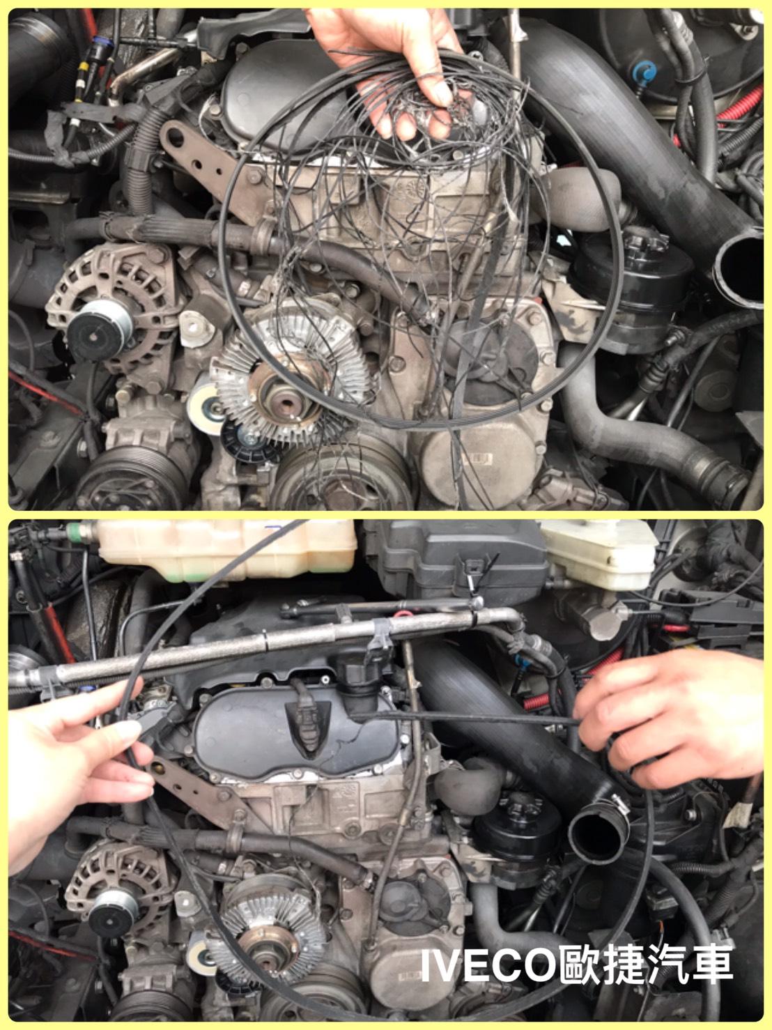 皮帶轉動時牽引著引擎運轉